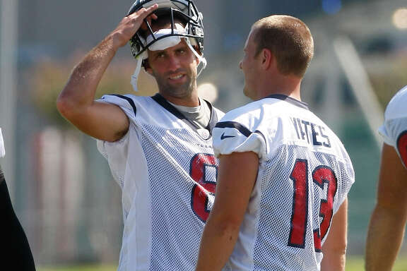 After T.J. Yates, right, finished last week's game at San Francisco, it will be Matt Schaub returning to his customary starting position Sunday against St. Louis.