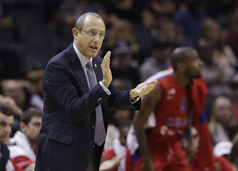 CSKA Moscow coach Ettore Messina talks to his team during the first half of an exhibition NBA basketball game against the San Antonio Spurs, Wednesday, Oct. 9, 2013, in San Antonio. Photo: Eric Gay, Associated Press