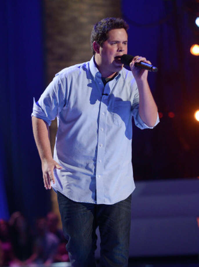 THE X FACTOR: FOUR CHAIR CHALLENGE: Contestant Tim Olstad performs at the FOUR CHAIR CHALLENGE on THE X FACTOR airing Wednesday, Oct. 9 (8:00-10:00 PM ET/PT) on FOX.  CR: Michael Becker / FOX. © Copyright 2013 FOX Braodcasting. / 1