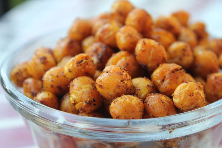 Turmeric is linked with pain relief. Some studies suggest it's just as effective at anti-inflammation as medications like ibuprofen, without toxic side effects.  On top of that, these turmeric roasted chickpeas are delicious.