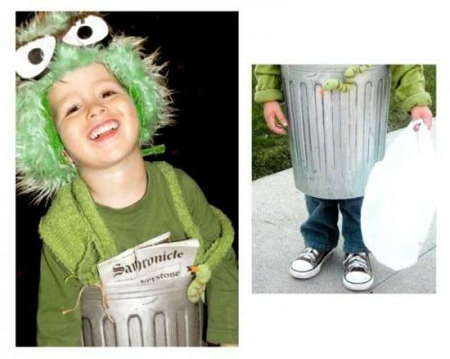 OSCAR THE GROUCH (2011): After years of asking people to get a Chronicle into the frame to prove costume timeliness, this is our first paper in a trash can. Great costume, Oscar! Maybe you should check out our iPad app?