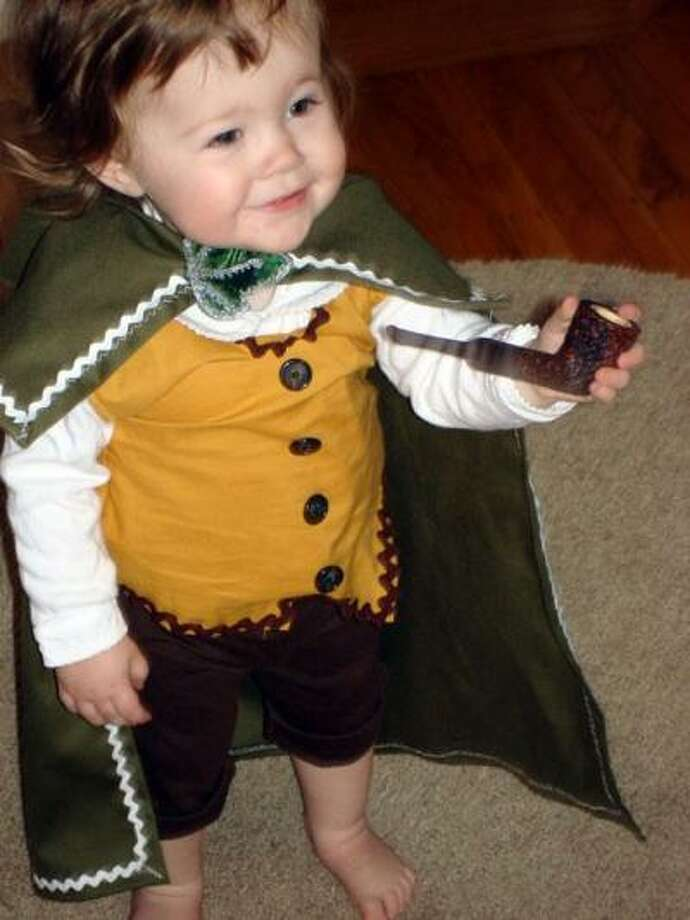 HOBBIT (2010): Friend of The Poop Jody Handley dressed her daughter as Frodo Baggins. Or was it Bilbo? I'm pretty sure she's corrected me before, and the following year I still get it wrong.