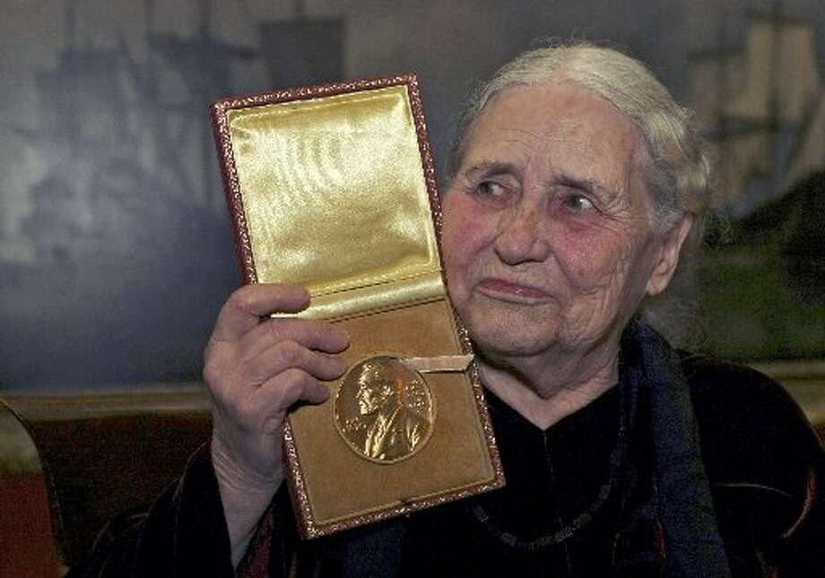 Doris Lessing, 2007, born in Iran of British parents, spent decades in Zimbabwe.  (AP)