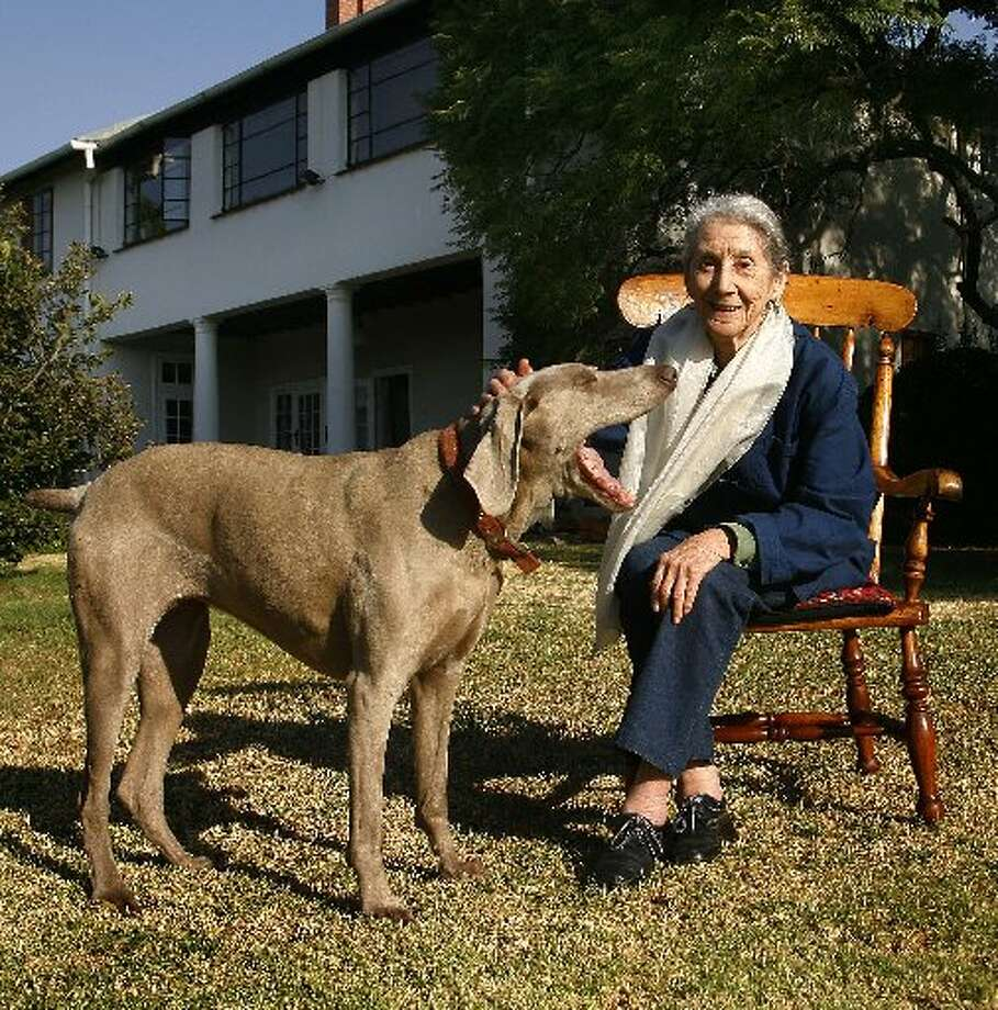 Nadine Gordimer, 1991, South African. (AP)