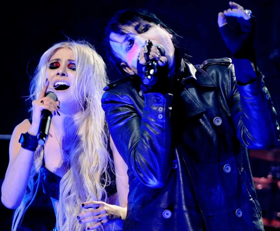 Performing with Marilyn Manson in 2012. Photo: Getty Images