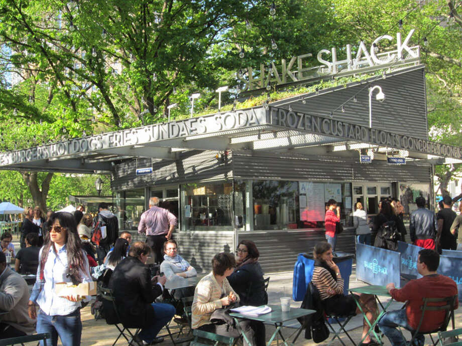The original Shake Shack in Madison Square Park in New York City started as a way to raise funds for the maintenance of the park. It was restauranteur Danny Meyer's first venture outside the fine dining arena. Photo: Contributed Photo / Connecticut Post Contributed