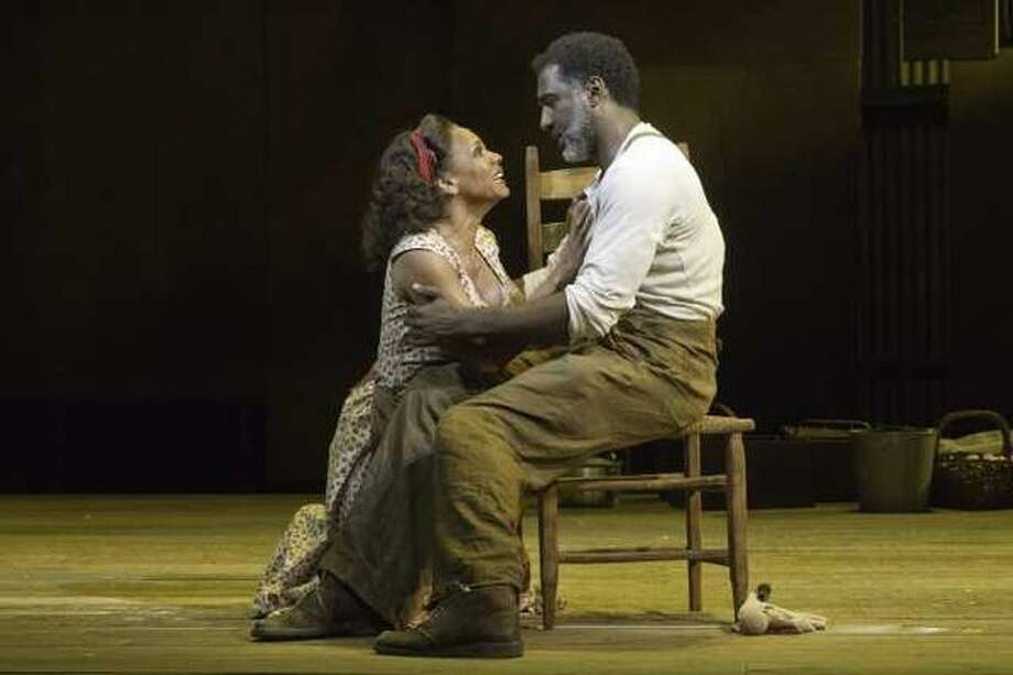 Audra McDonald and Norm Lewis of the Broadway revival of 'Porgy and Bess' perform at 2012 Tonys. Photo: AP
