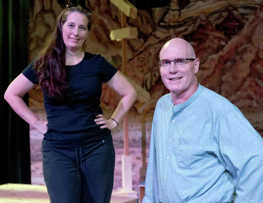 Michelle Pietri, left, and William McCrary, pose for a photograph on the Buena Vista Theater stage, Tuesday, Oct. 1, 2013, at the UTSA Downtown Campus in San Antonio. (Darren Abate/For the Express-News) Photo: Darren Abate, Darren Abate/Express-News