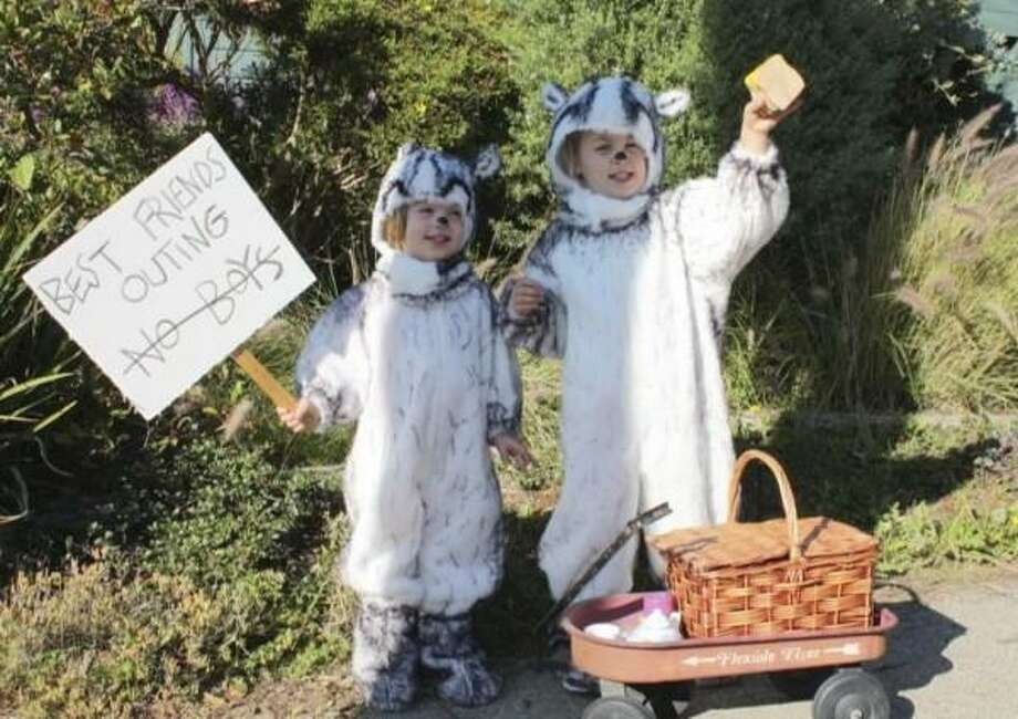 "BADGERS (2012): Esme Shaller created homemade costumes based on Frances and Gloria, the badgers from Russell and Lillian Hoban's 1960s books (''Bread and Jam for Frances,"" etc.) The level of detail was excellent, and the kids are clearly thrilled. Photo: Courtesy Esme Shaller"