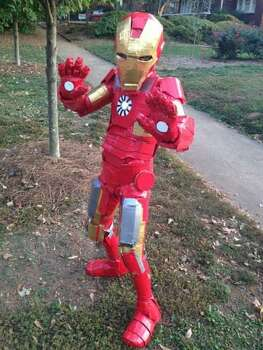 IRON MAN (2012): Jenn Purdy's 11-year-old son Tynan spent three months making this Iron Man costume, mostly out of cardboard and duct tape. Which is exactly the type of thing a young Tony Stark would have done. There are other Iron Man costumes out there, but this kid followed his own vision. Photo: Courtesy Jenn Purdy