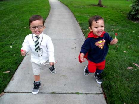 "SUPERMAN and CLARK KENT (2010): There are several entrants who I look forward to seeing every year. This pair (the ""302"" Spartans) is definitely at the top of that list. Photo: Courtesy Becky"