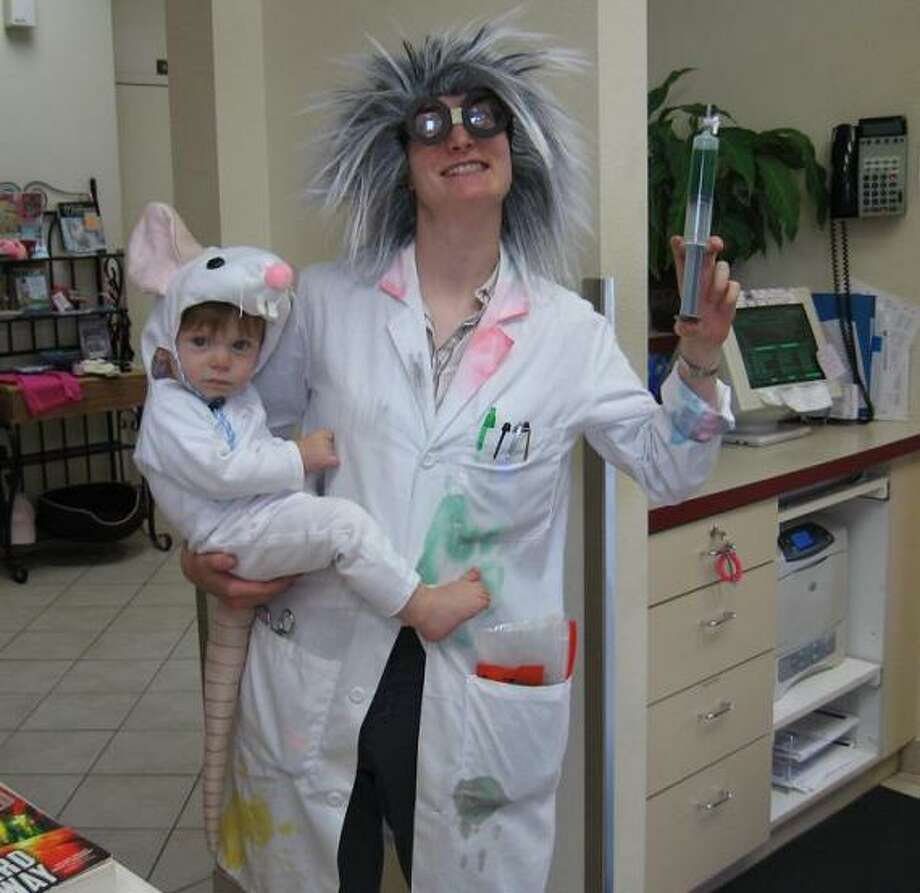 LAB RAT (2010): This costume had that rare balance of adorable, awesome and slightly creepy that we look for in a winner. I also liked the resourcefulness of the mad scientist in the picture, who is a veterinarian in real life. Photo: Courtesy Caren Osgood