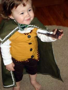 HOBBIT (2010): Friend of The Poop Jody Handley dressed her daughter as Frodo Baggins. Or was it Bilbo? I'm pretty sure she's corrected me before, and the following year I still get it wrong. Photo: Courtesy Jody Handley
