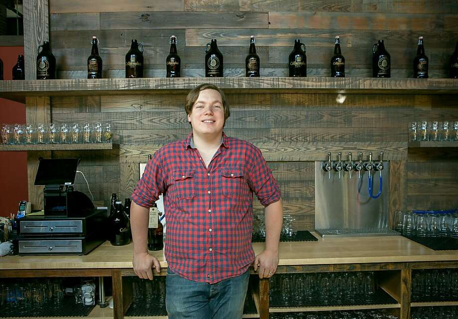 Connor Casey of Cellarmaker Brewing Co. favors a law that lets breweries open their taps to bottles that aren't their own. Photo: John Storey, Special To The Chronicle