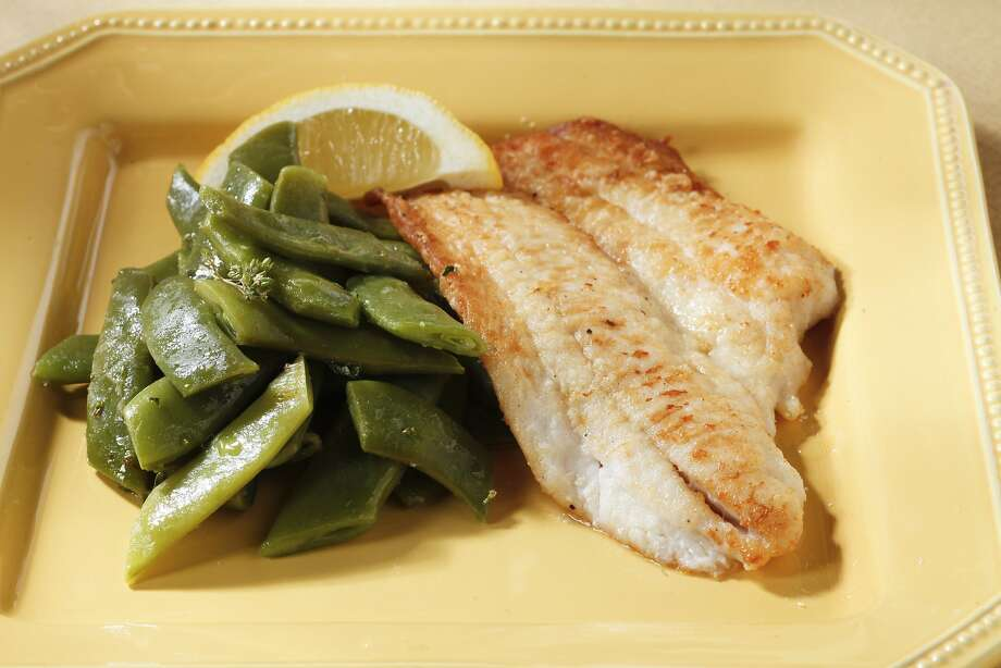 Petrale Sole with Warm Romano Bean Salad. Photo: Craig Lee, Special To The Chronicle