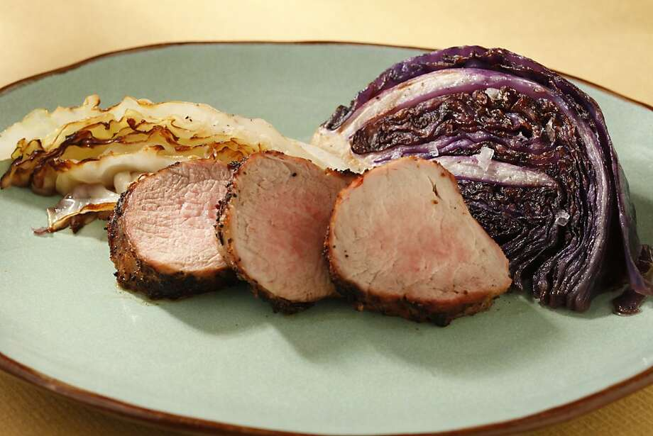 Spiced Pork Tenderloin With Seared Cabbage Photo: Craig Lee, Special To The Chronicle