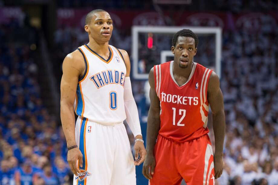 Oklahoma City fans blamed Beverley for Westbrook's injury. A ball boy for the Thunder said via Twitter that he was 'coming to kill' Beverely. It was one of many threats to the Rockets' player.    When the Thunder were eventually eliminated in the next round, Beverley was still the source of their blame. Photo: Smiley N. Pool, Houston Chronicle