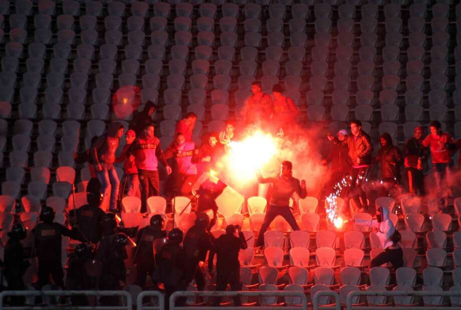 In February of 2012 more than 70 people were killed at a soccer match in Egypt between Al-Ahly and Al-Masry. Photo: Associated Press