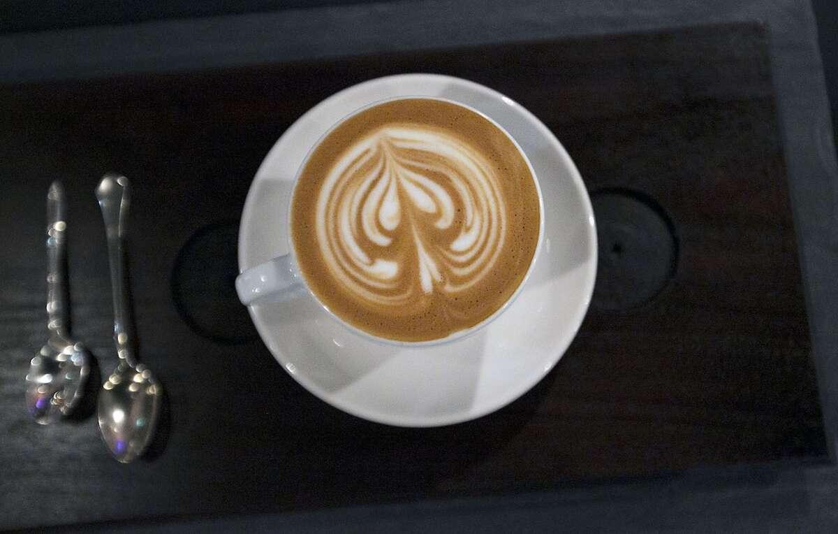 A cuppaccino at Blacksmith coffee shop.