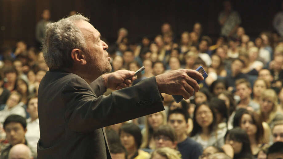 "Former Treasury Secretary Robert Reich gives a lecture in the film, ""Inequality for All."" / ONLINE_YES"