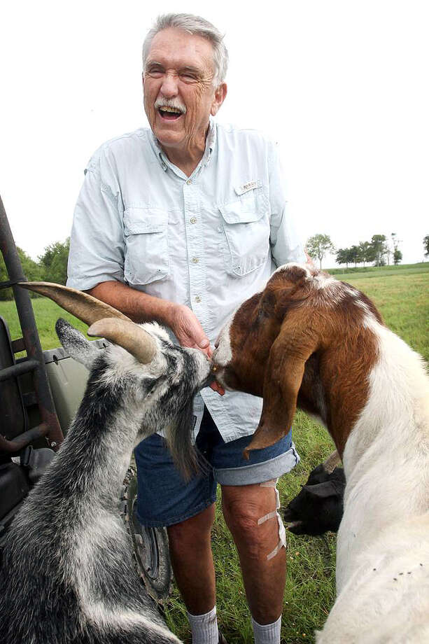 Warning: Photos in this story are graphic and disturbing examples of the mystery being investigated in Port Lavaca.Wayne Daggs feeds animals on his Port Lavaca farm. (Angeli Wright / Victoria Advocate )