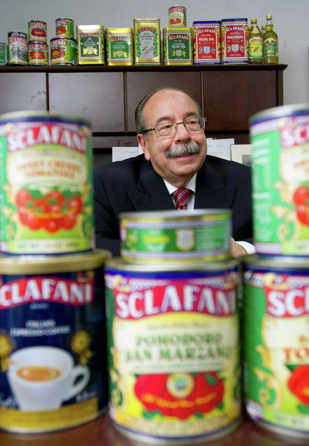 Lucien Sclafani talks about his role as grand marshal of Stamford's Columbus Day parade as he sits in his office in the Norwalk, Conn., on Wednesday, October 9, 2013. Photo: Lindsay Perry / Stamford Advocate
