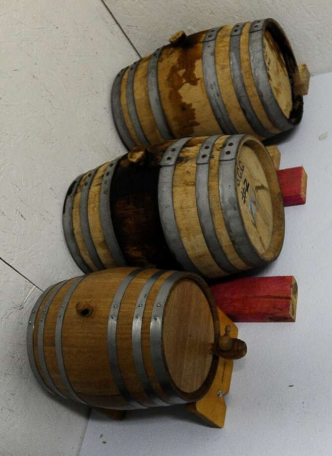 Beers fermenting from Ranger Creek Brewery that will be tapped exclusively for the Texas Renaissance Festival in Plantersville, TX on Sunday, October 14, 2012. Photo taken: Randy Edwards/The Enterprise