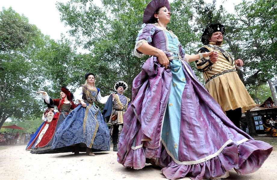 The Royal English Court parades through the Texas Renaissance Festival, Saturday, October 8, 2011. Tammy McKinley/The Enterprise Photo: Beaumont Enterprise