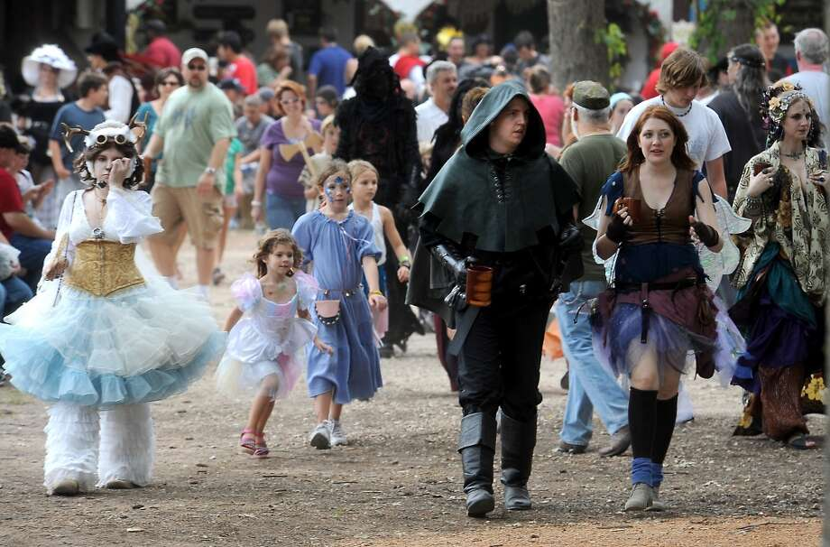 Thousands of visitors attend opening day at the Texas Renaissance Festival, Saturday, October 8, 2011. Tammy McKinley/The Enterprise Photo: Beaumont Enterprise