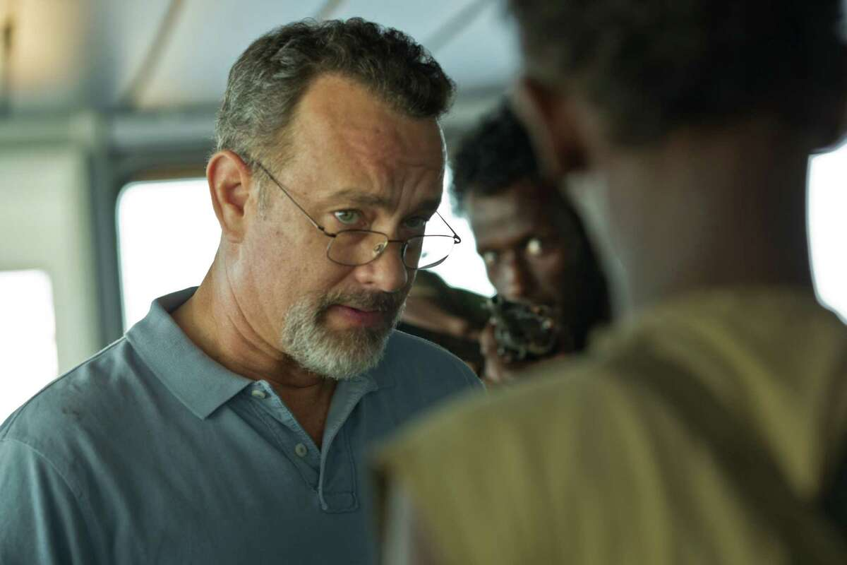 """Tom Hanks stars in """"Captain Phillips,"""" based on the true story of Richard Phillips, an American merchant seaman struggling with Somali pirates."""