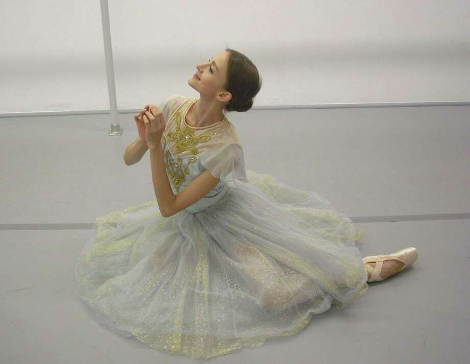 "Connecticut Ballet will present ""Cinderella,"" who will be played by Oksana Maslova (pictured here) at 2 and 7:30 p.m., Saturday, Oct. 12, 2013, at the Palace Theatre, 61 Atlantic St., Stamford, Conn. It is the first production in the Stamford, Conn. company's 2013-14 season at the Palace. For more information on tickets, call 203-325-4466; visit www.scalive.org or www.connecticutballet.com. Contributed photo/Kimberly Levesque Photo: Contributed Photo / Stamford Advocate Contributed"