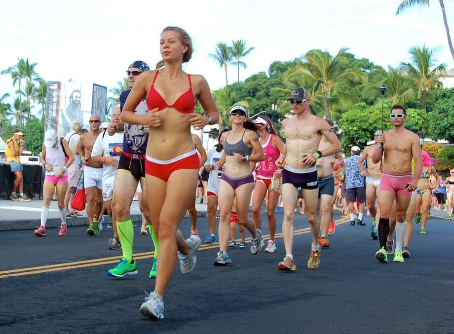 The 1.5-mile Underpants Run is more of a leisurely jog, all the better for photographers. Photo: Jeanne Cooper, SFGate