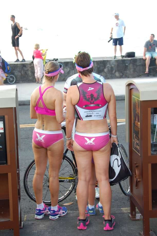A common sight in Kona pre-Ironman, whether or not it's the Underpants Run. Photo: Jeanne Cooper, SFGate