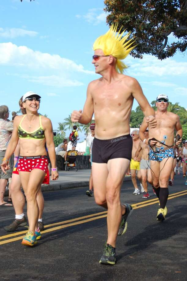 Drawing eyes upward is a special feat during the Underpants Run. Photo: Jeanne Cooper, SFGate