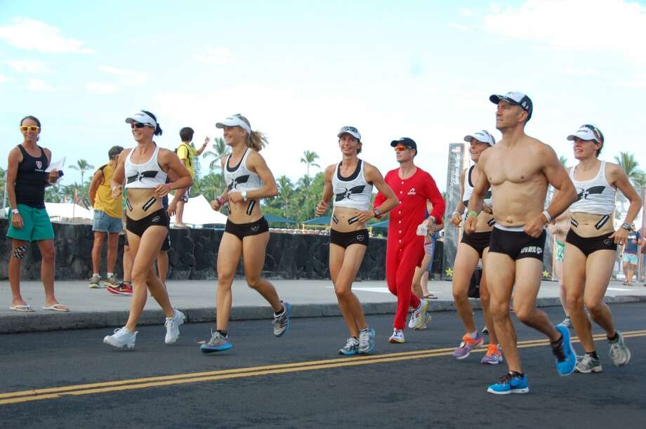 Red flannel underwear is rather warm in Kona, but does make one stand out in the crowd. Photo: Jeanne Cooper, SFGate