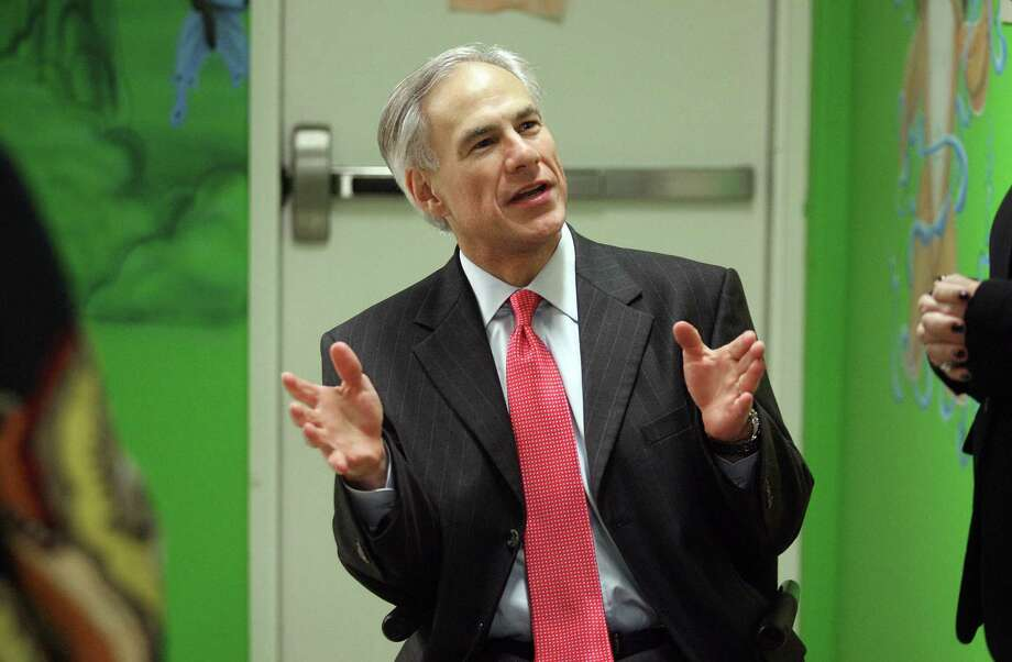 "Attorney General Greg Abbott invokes the specter of a blue Texas with a California-style government and offers himself up as the savior in his ads for his gubernatorial campaign. He says he is for ""preserving Texas as the land of liberty and freedom... ."" Photo: Joel Martinez / Associated Press"