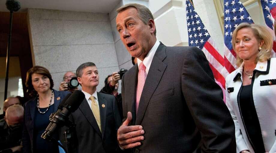 Don't feel sorry for Speaker of the House John Boehner. The shutdown showdown is making him stronger with conservatives. Photo: J. Scott Applewhite, Associated Press / AP