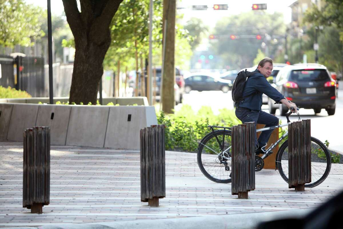 Landscaping, wider sidewalks and small gardens installed in the 2000 block of Bagby Street eased access for bicyclists and pedestrians and helped the area obtain certification through the national Greenroads Project.