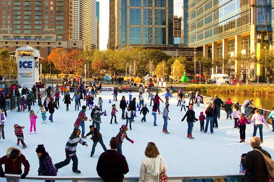 The Discovery Green Conservancy ice skating rink will be open through Sunday, Feb. 2. Photo: Courtesy Of Discovery Green Conservancy
