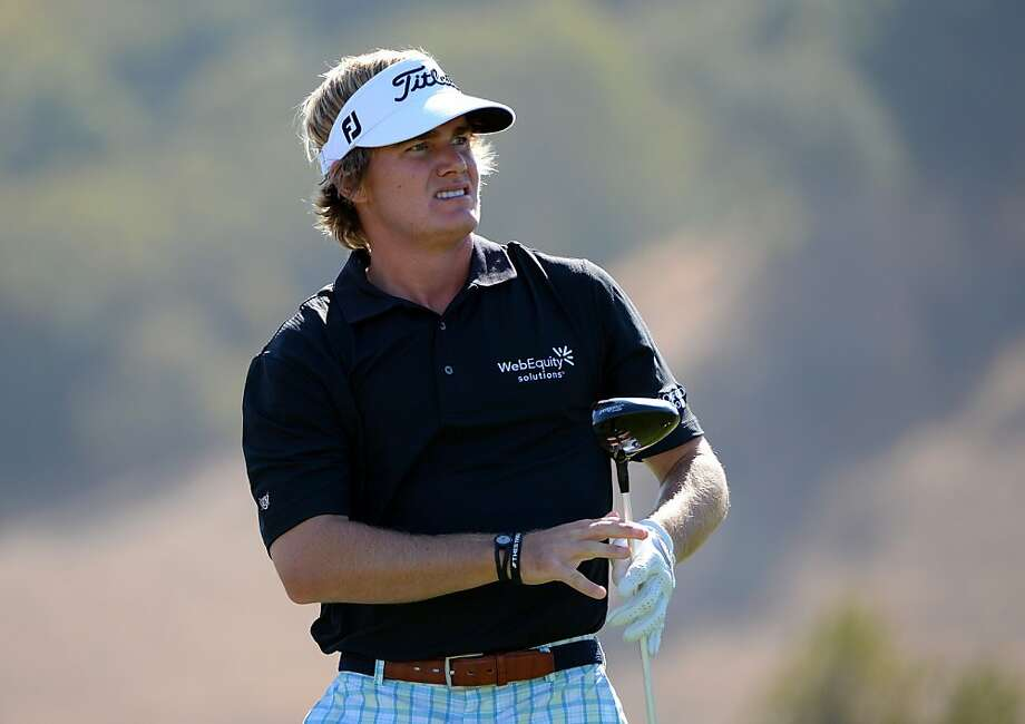 John Peterson follows the flight of his tee shot on the second hole during a strong first round at the Frys.com Open at CordeValle. Photo: Robert Laberge, Getty Images