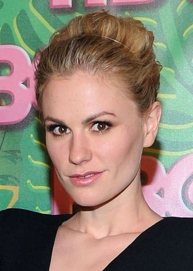 """Anna Paquin:In an ad campaign for Cyndi Lauper's True Colors Fund, which fights for the rights of the GLBT community, Paquin declares, """"I'm Anna Paquin. I'm bisexual, and I give a d*mn."""" (Photo by Michael Buckner/Getty Images)"""