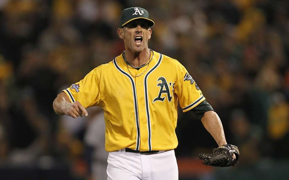 Grant Balfour said after the Game 5 loss that he may have thrown his final pitch for the A's. Photo: Michael Macor, The Chronicle