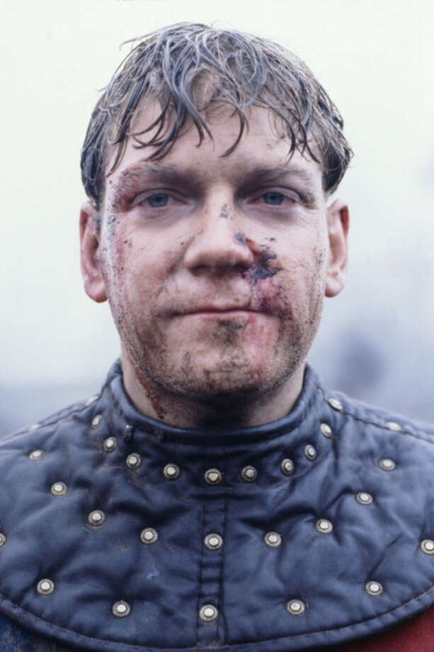 British actor Kenneth Branagh on location in Sussex during filming the Agincourt battle scene of Henry V.  This 1988 film put Branagh on the map. VERY GOOD. Photo: Terry O'Neill, Getty Images / Terry O'Neill