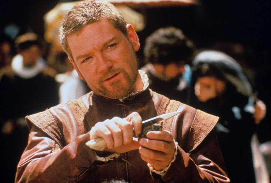OTHELLO:  Kenneth Branagh was interesting casting as Iago -- breezy, likable and dangerous -- but Laurence Fishburne, as Othello, had trouble with the text, and his vibe, at least in 1995, was more in the Iago vein.  One of those movies that look better on paper.  FAIR.   The British actor and director Kenneth Branagh acting in Othello. 1995 (Photo by Mondadori Portfolio via Getty Images) Photo: Mondadori, Mondadori Via Getty Images / Mondadori