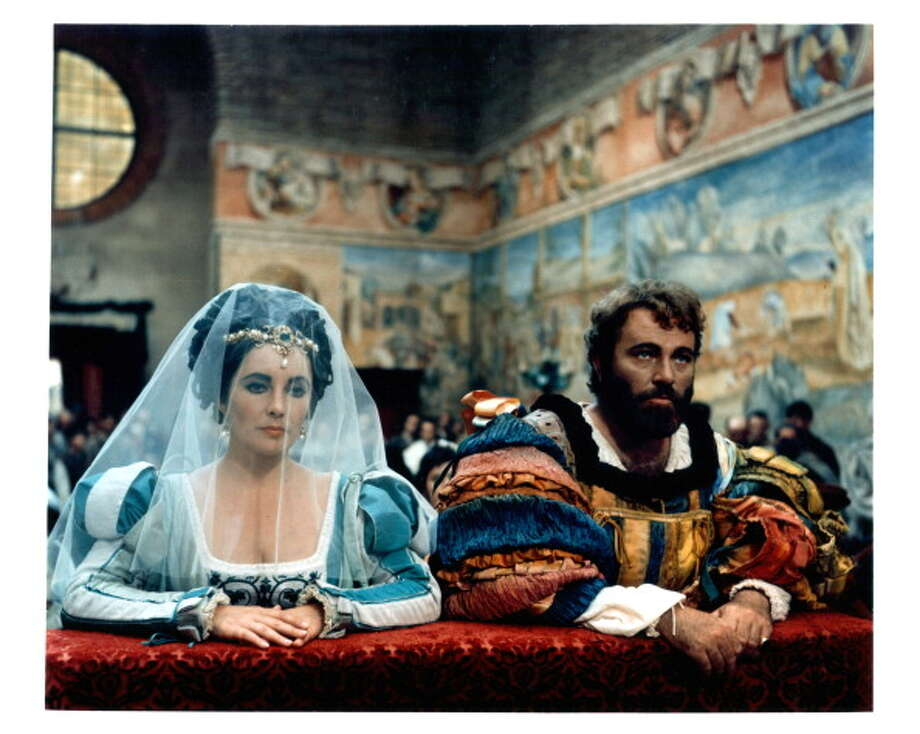 TAMING OF THE SHREW:  Shakespeare's comedy gets the opulent Zeffirelli treatment, in this 1967 film, but the marriage of Elizabeth Taylor and Richard Burton overshadows this film, and she wasn't the classical actor that he was.  FAIR. Photo: Archive Photos, Getty Images / 2012 Getty Images