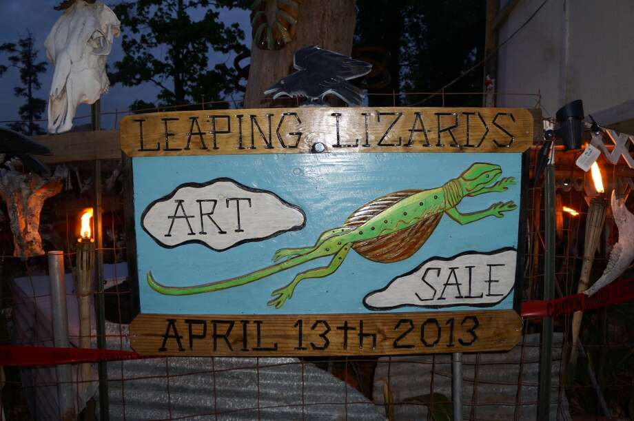 On April 13, artist Nathan McCray hosted the Leaping Lizards Grassroots Arts Sale, a precursor to this weekend's Screaming Locust Grassroots Arts Sale. Photo: Courtesy