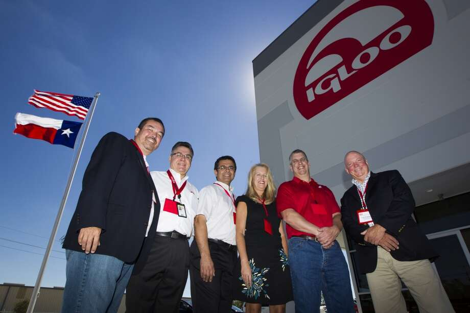 Igloo Products COO David Thornhill, Director of Manufacturing Engineering Roque Barros, VP of Operations Enrique Cervantes, Interim CFO Laura Snyder, EVP of Sales Tony Carfagno, and CEO Gary Kiedaisch pose for portrait at the grand opening of the new 420,000 square foot distribution facility on Thursday, Oct. 10, 2013, in Katy. ( J. Patric Schneider / For the Chronicle ) Photo: J. Patric Schneider, For The Chronicle