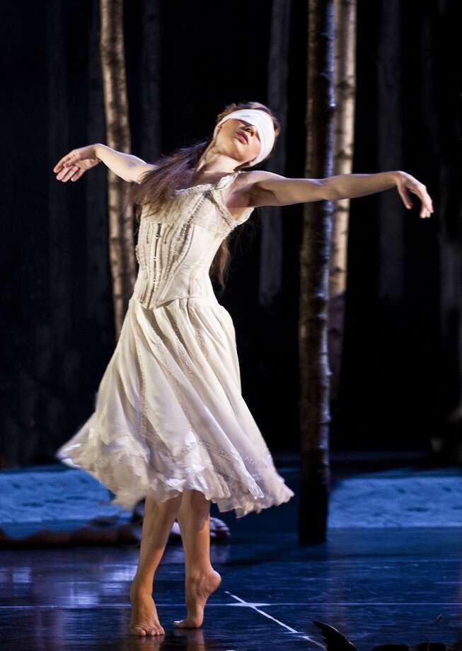Hannah Vassallo as Aurora in Matthew Bourne's Sleeping Beauty. Photo: Simon Annand