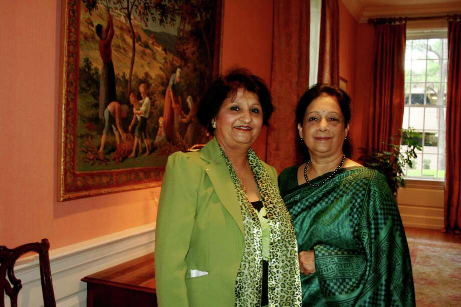 Rashmi Sharma, left, and Shantha Raghuthaman chaired the Asians Against Domestic Abuse luncheon.Rashmi Sharma, left, and Shantha Raghuthaman chaired the Asians Against Domestic Abuse luncheon. Photo: Joan Vogan