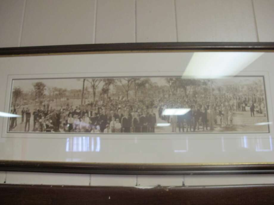 This framed picture inside the hall shows the old neighborhood. Photo: Benjamin Olivo, MySA.com
